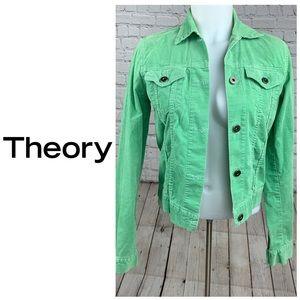 Theory Mont Green Corduroy Denim Jacket